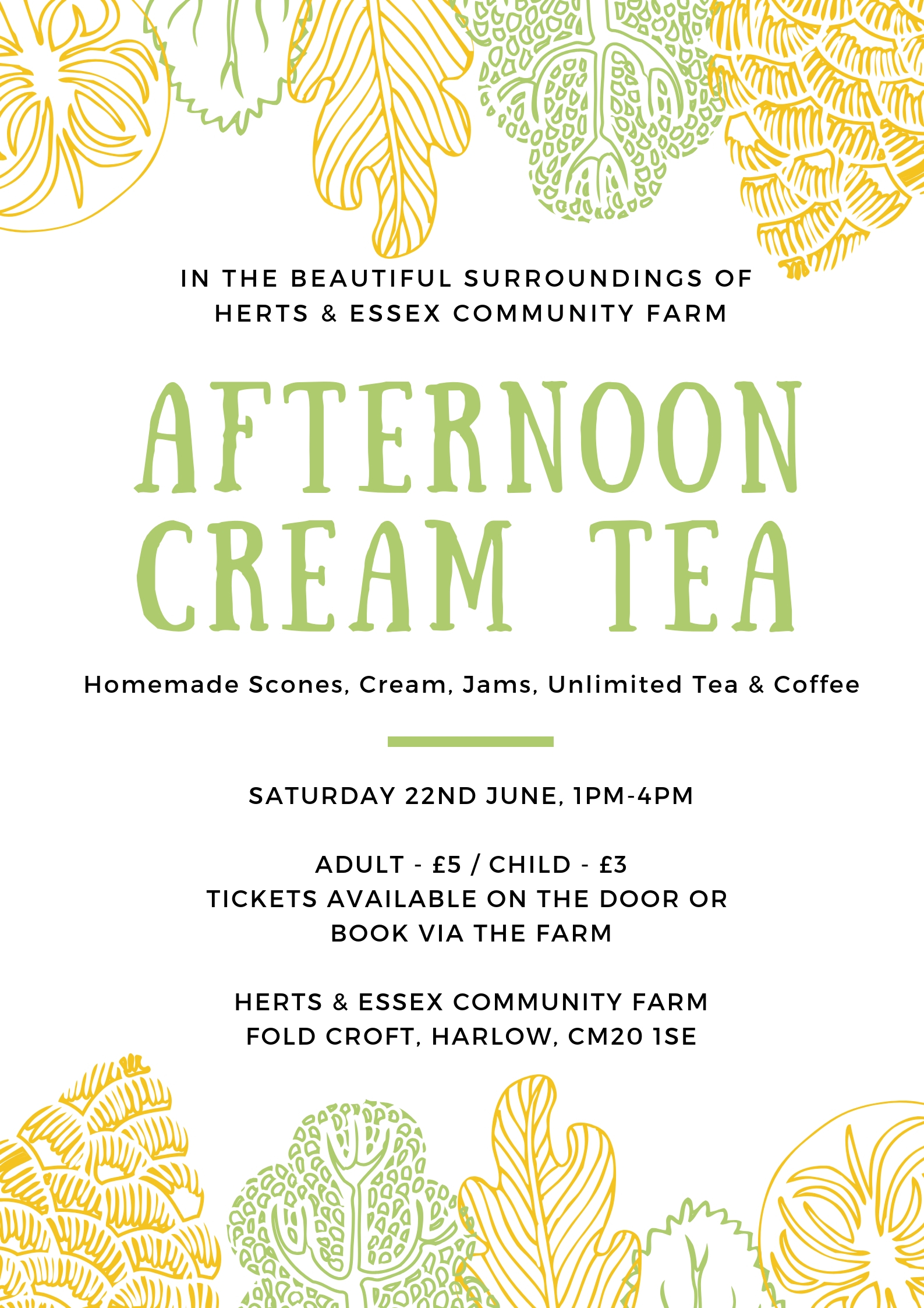Afternoon Cream Tea @ Herts & Essex Community Farm